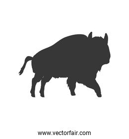 bison animal silhouette