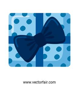 blue dotted gift
