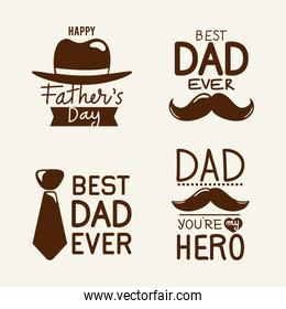 four fathers days messages