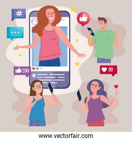 four influencers in smartphone