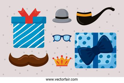 seven fathers day icons