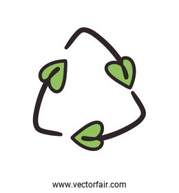 recycle leaves symbol
