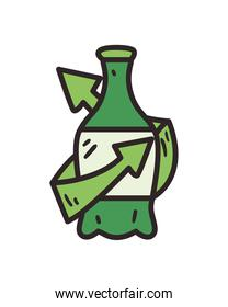 recycle green bottle