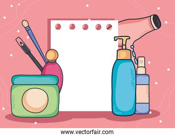 Make up icons with paper note
