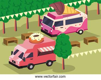 donuts and ice cream food truck