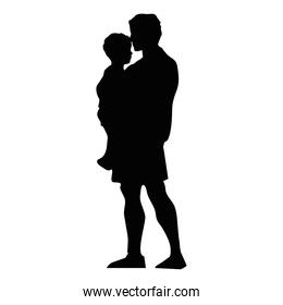 father lifting son