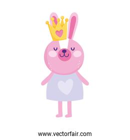 cute rabbit with crown
