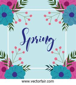 spring text flowers