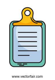 clipboard with document