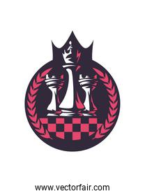 King and rook chess pieces