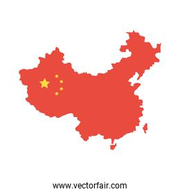 china flag in map
