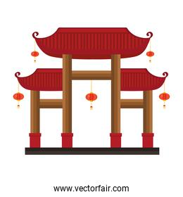 chinese wooden gates