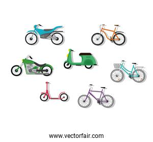 seven bikes vehicles and motorcycles