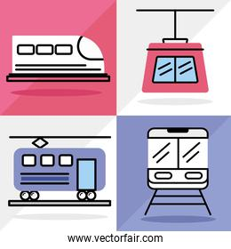 transport four icons