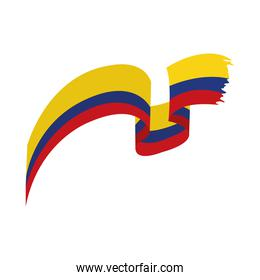 Colombia flag wave