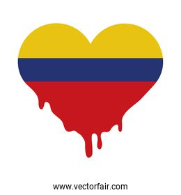 Colombia heart flag