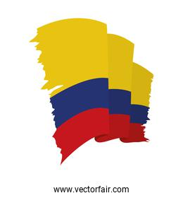 waving Colombia flag