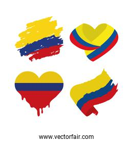 Colombia flags icons