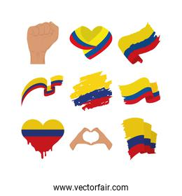 Colombia flags collection
