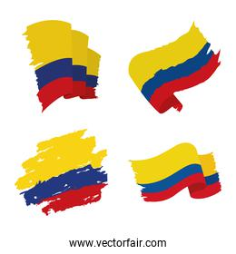 Colombia flags icon set