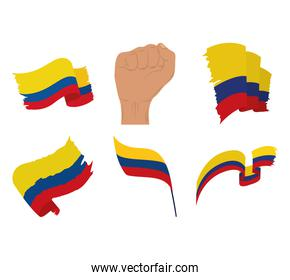 Colombia flags protest