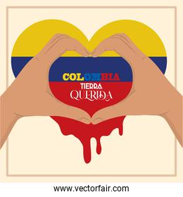 Colombia hands heart