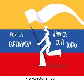 colombia protest flag