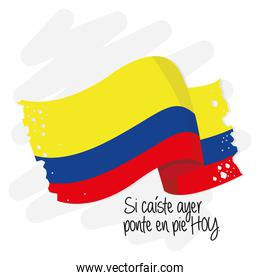 Colombia flag text inspirational
