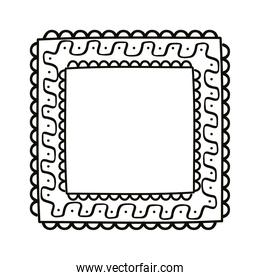 square draw lace frame