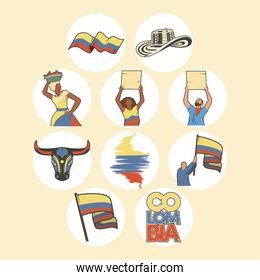 ten colombia icons