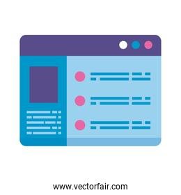 webpage template interface