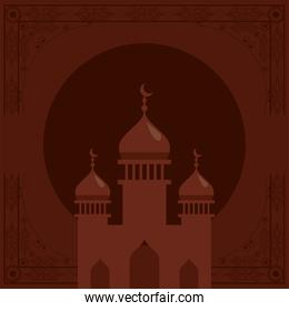 mosque temple poster