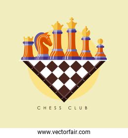 chees pieces in board