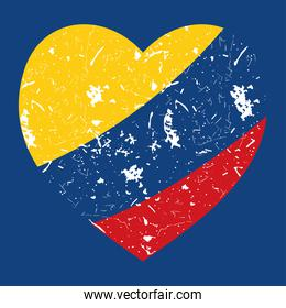grunge colombia heart