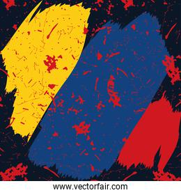 colombia flag paint