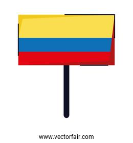 colombian flag in banner