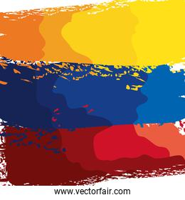 colombian flag painted