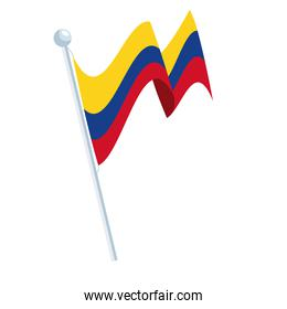 pole with colombian flag