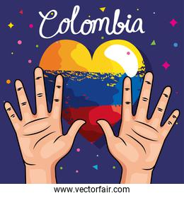 colombians hands and heart
