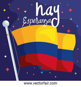 colombian flag poster