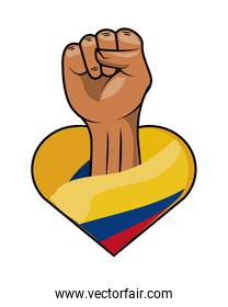 colombia resists fist