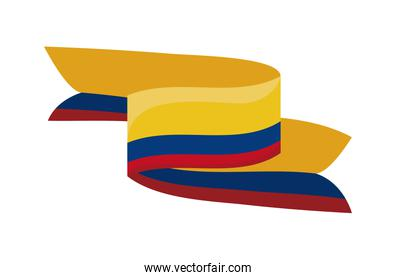 colombia resists ribbon flag
