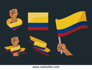 six colombia resists icons