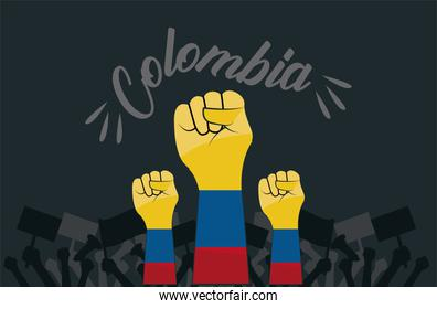 colombians hands fists