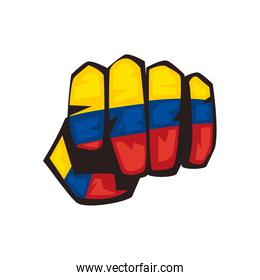 colombian punch hand