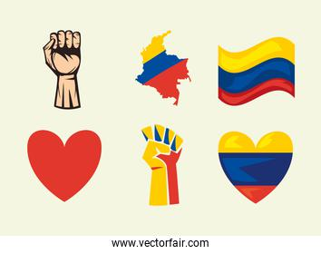 six colombian protest icons