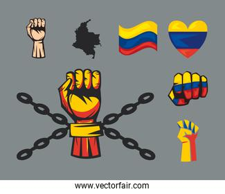 seven colombian protest icons
