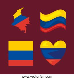 four colombian protest icons