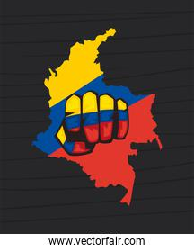 punch in colombian map