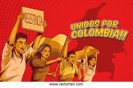 four colombians protesters